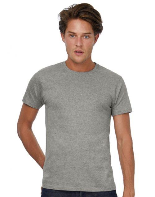 Šedé pánské tričko s krátkým rukávem B&C