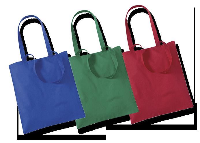 Bavlněné a jutové tašky v barevném provedení