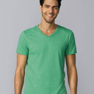 Zelené pánské tričko s krátkým rukávem Gildan Softstyle