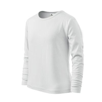 Dětské bílé tričko Adler s dlouhým rukávem