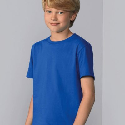 Chlapecké modré tričko Gildan Softstyle