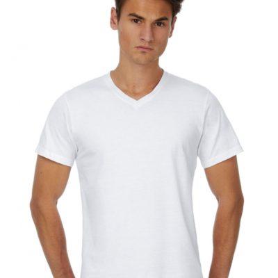 Bílé pánské tričko B&C Mick Classic