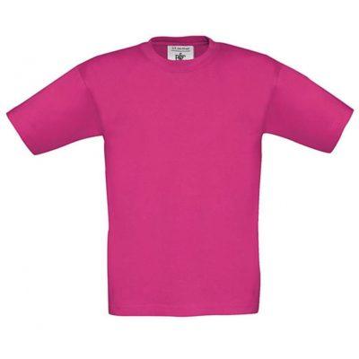 Dětské růžové tričko B&C Exact