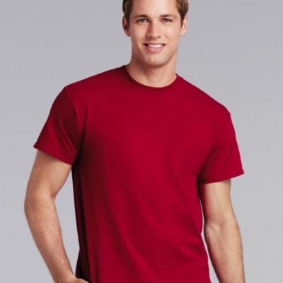 Červené pánské tričko Gildan Tričko Heavy