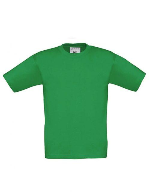 Dětské zelené tričko B&C Exact