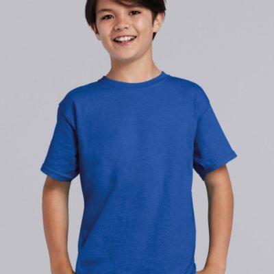 Dětské modré bavlněné tričko Gildan