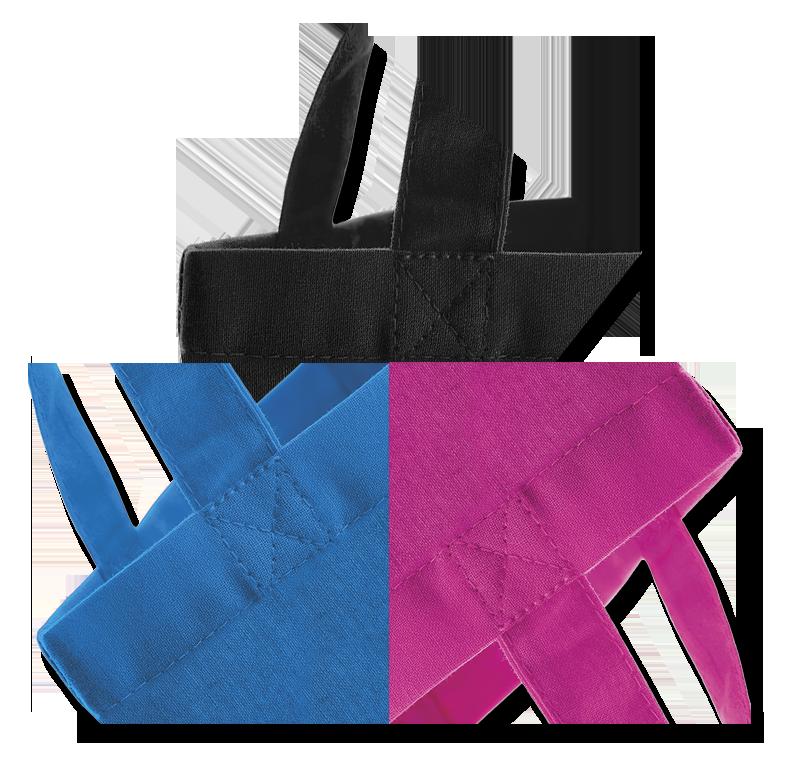 Barevné bavlněné a jutové tašky