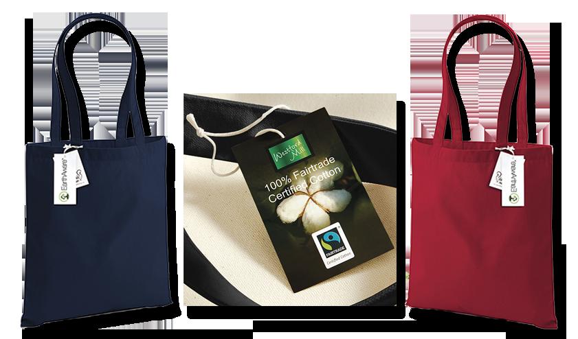 Bio a Fair trade bavlněné nebo jutové tašky