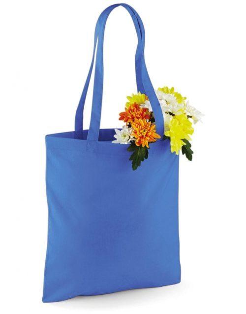 Modrá bavlněná taška s dlouhými uchy