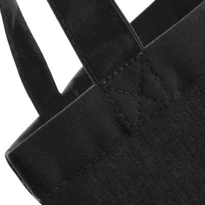 Černá bavlněná taška s dlouhými uchy