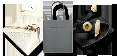 Tašky ušité na zakázku s kapsami na zip nebo s knoflíkem