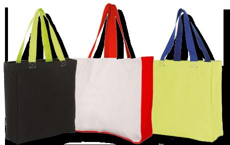 Tašky na zakázku s barevnými uchy