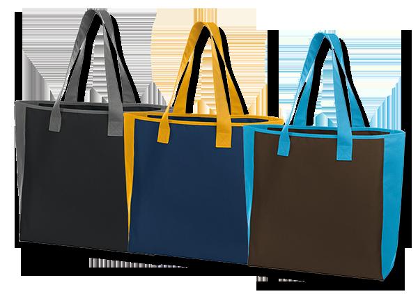 Tašky na zakázku s barevným lemováním