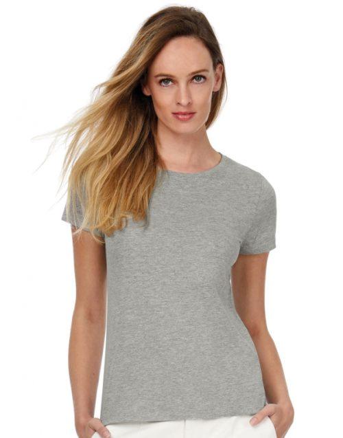 Dámské šedé tričko s krátkým rukávem B&C