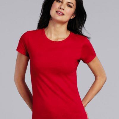 Dámské tričko Gildan Premium s krátkým rukávem