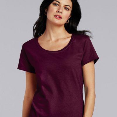 Dámské fialové tričko Gildan Softstyle s krátkým rukávem
