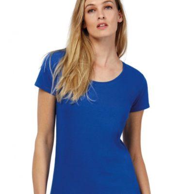 Dámské modré tričko B&C Exact