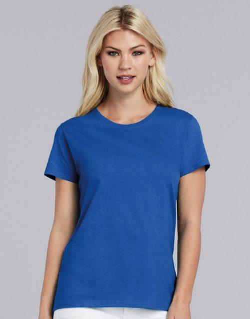 Dámské modré tričko Gildan Tričko Heavy