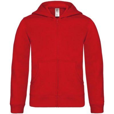 Dětská červená mikina B&C Hooded