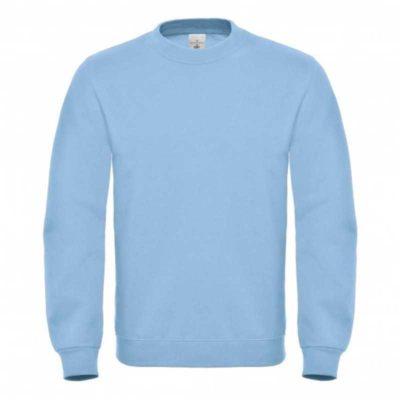 Světle modrá mikina B&C Standard Cotton Rich