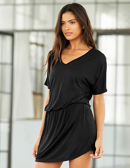 Dámské černé šaty s výstřihem do V