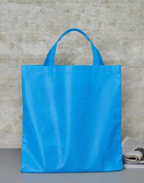 Modrá taška z netkané textilie Basic