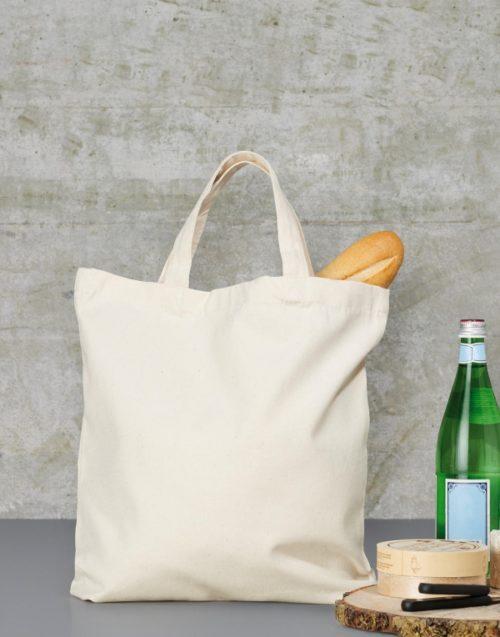Fairtrade bavlněná taška s krátkými uchy