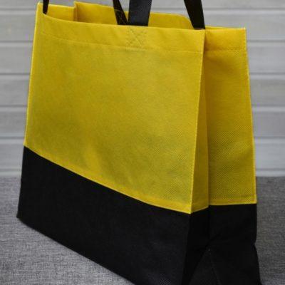 černožlutá plážová taška z netkané textilie