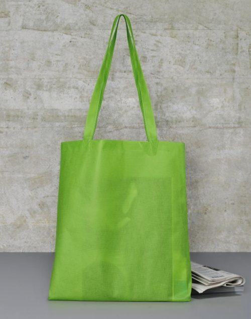 Zelená nákupní taška z netkané textilie