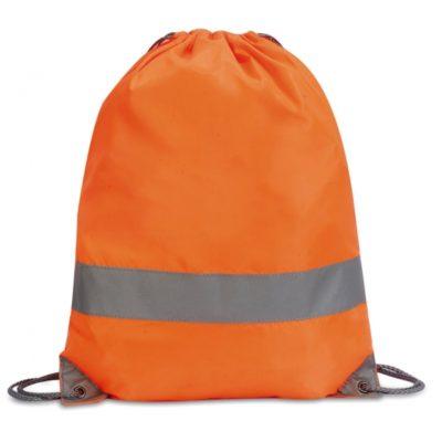 Reflexní oranžový batoh na šňůrku