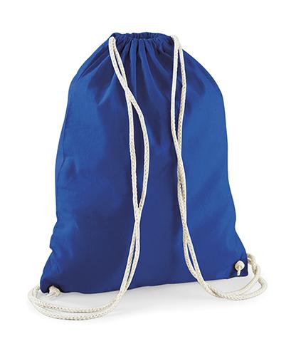 Bavlněný modrý batůžek na záda