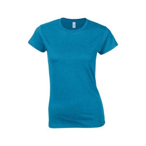Dámské modré tričko Gildan s krátkým rukávem