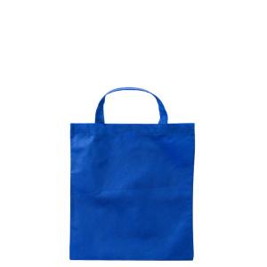 Modrá taška z netkané textilie s krátkými uchy