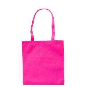 Růžová taška z netkané textilie s dlouhými uchy