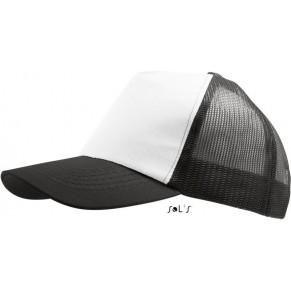 Černobílá kšiltovka SOLS Five Panel