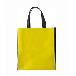 Žlutá nákupní taška z netkané textilie