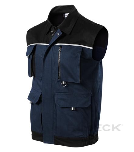Pracovní tmavě modrá pánská vesta